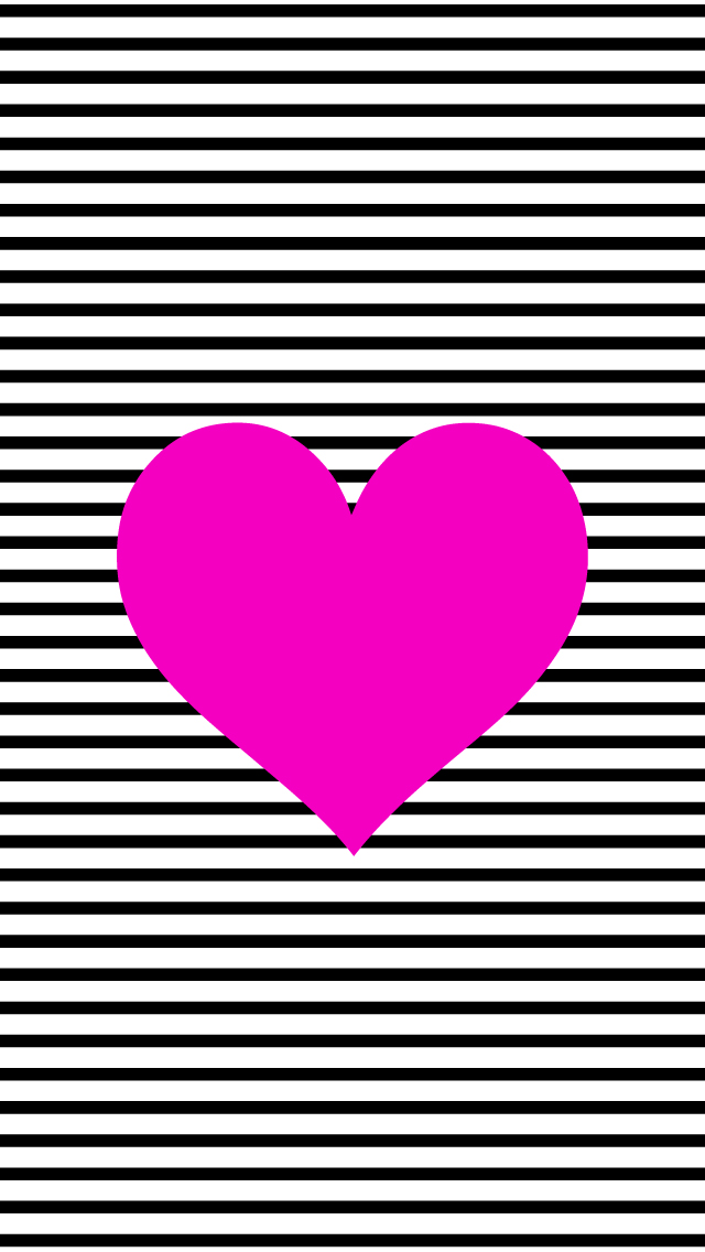 phone-bwstripeheart iphone wallpapers
