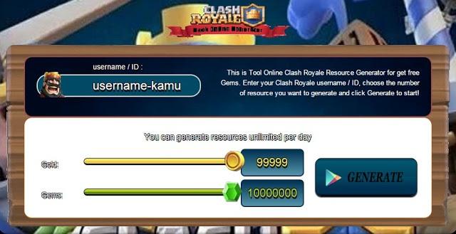 2 Cara Cheat Clash Royale Gold Gems Elixir Work 100