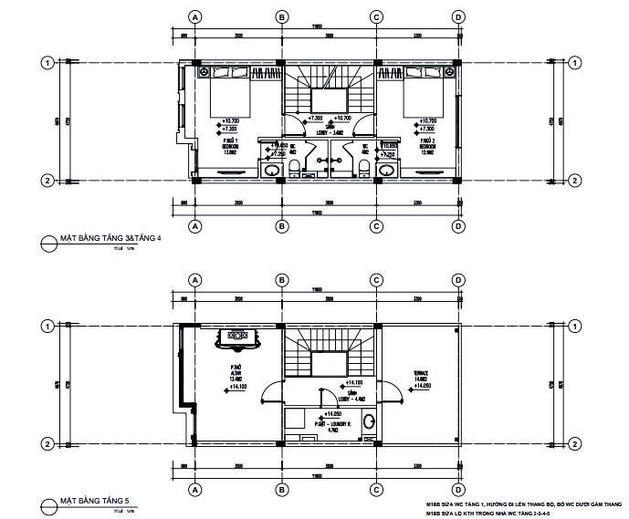 Mặt bằng tầng 5 dự án Athena Fulland