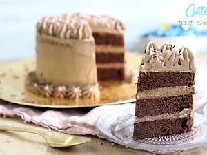 Gâteau à étages tout chocolat { pour Pâques }