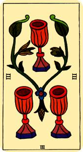 Tarot de Marsella - Tres de Copas