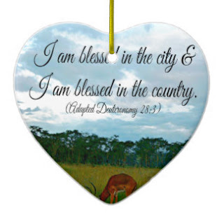 I am blessed in the city I am blessed in the country ceramic ornament