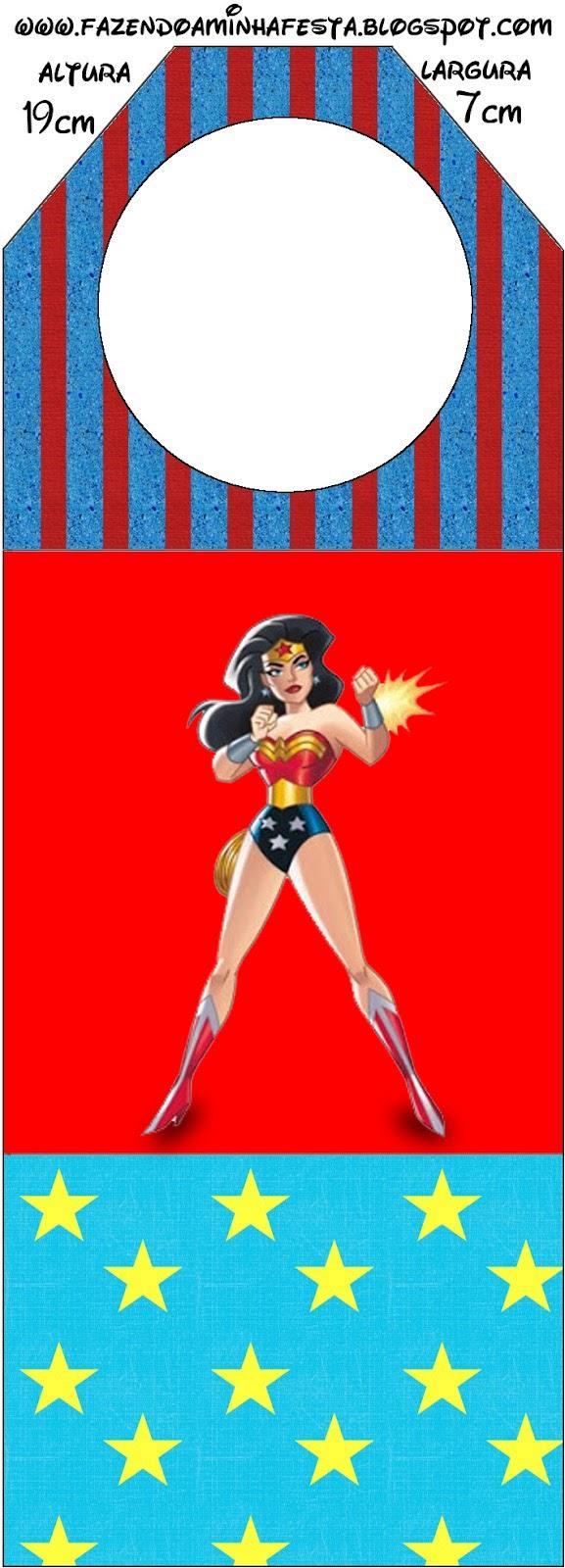 Para marcapáginas de Mujer Maravilla.
