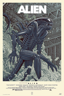 Designer Con 2018 Exclusive Alien Variant Screen Print by Florian Bertmer x Mondo