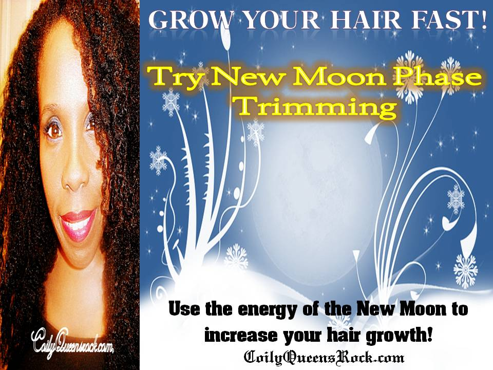 CoilyQueens™ : Grow hair long by doing a New Moon Phase trim