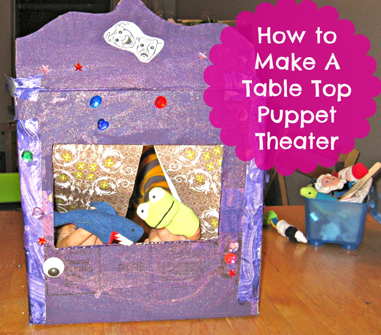 Easy DIY Table Top Puppet Theater for Tiny Apartments