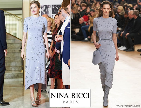 Queen Letizia wore Nina Ricci Dress