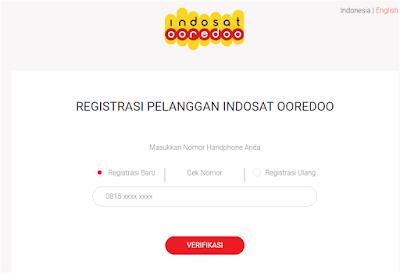Cara registrasi kartu indosat secara online.
