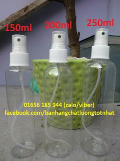 Chai xịt phun sương 150ml, 200ml, 250ml nhựa