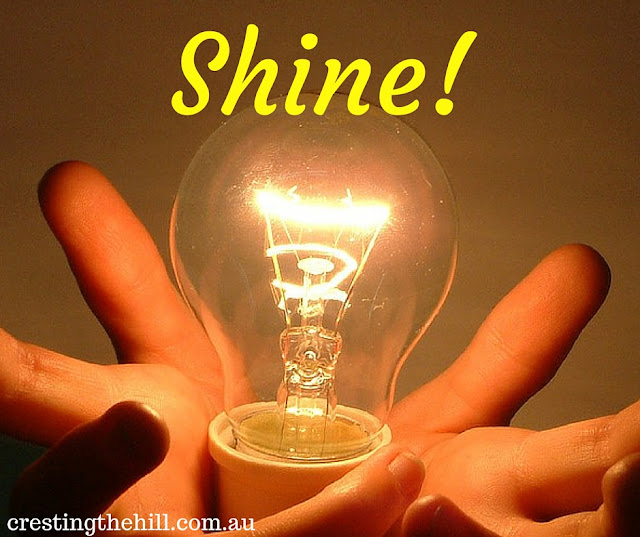 don't be a light sucker - shine your light by speaking brightness into the world!