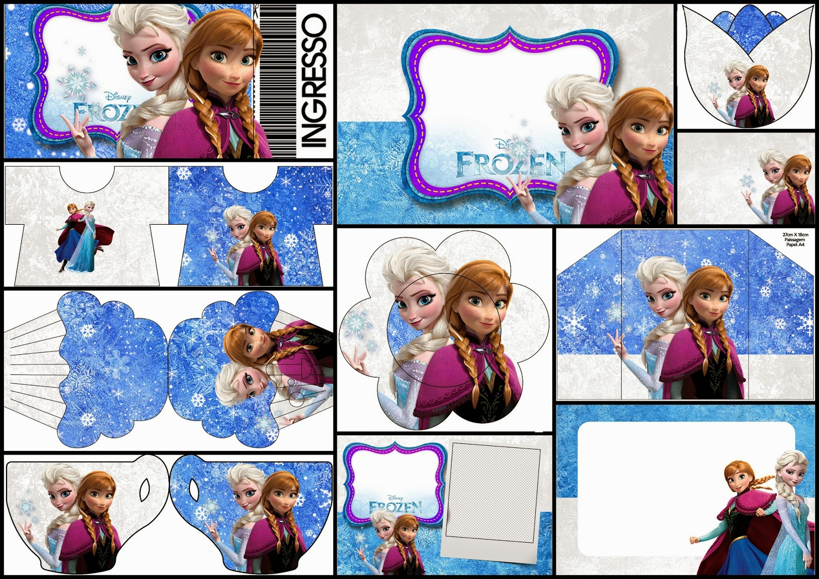 image about Free Frozen Printable identify Frozen Birthday with Snow: Absolutely free Printable Invites. - Oh