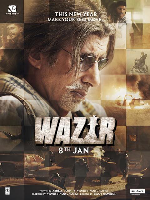 Wazir, starring Amitabh Bachchan, Farhan Akhtar, Directed by Bejoy Nambiar