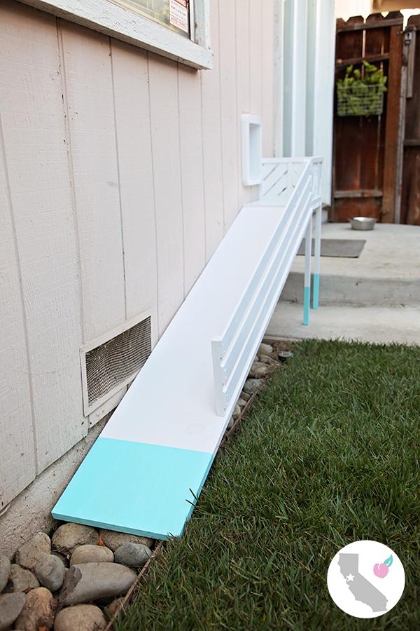 California Peach: DIY Dog Door Ramp