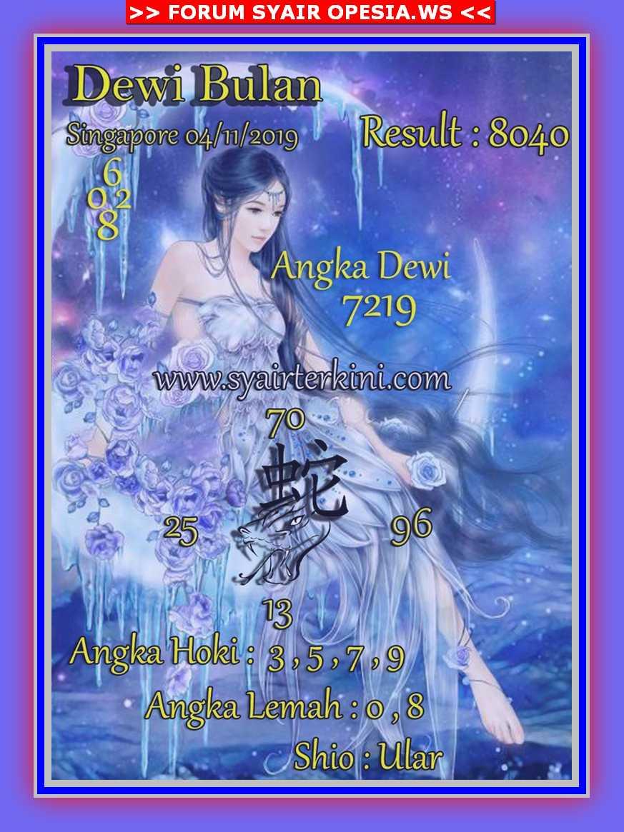 Kode syair Singapore Senin 4 November 2019 40