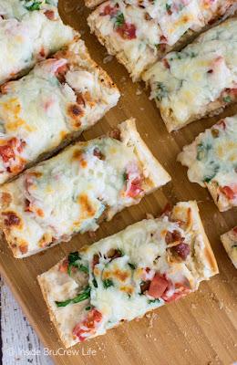 BLT Chicken Alfredo French Bread Pizza