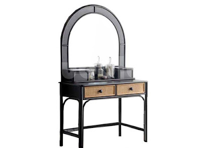 mueble tocador hecho en rattan natural j352+j353
