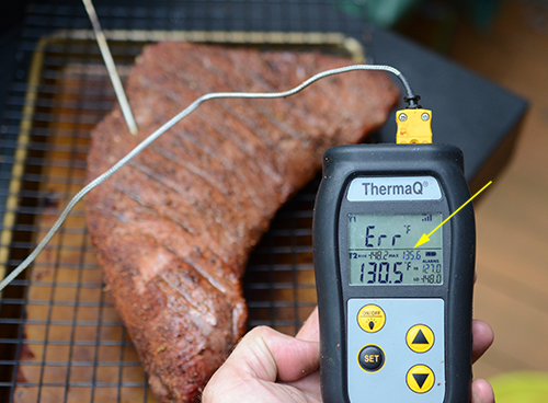 Thermoworks ThermaQ is a professional grade commercial style remote probe thermometer.