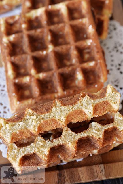 crispy Belgian liege waffles