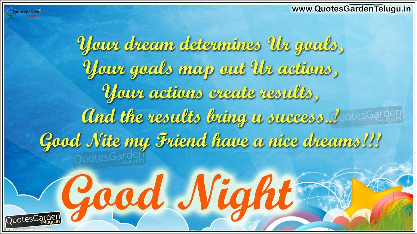 Best Good Night Status Messages For Friends Quotes Garden Telugu