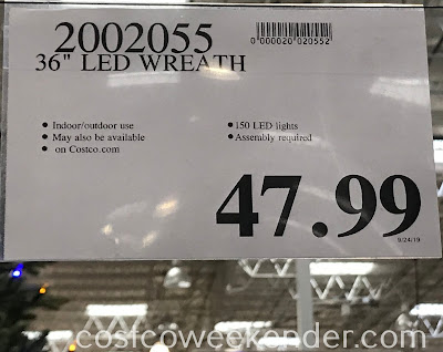 Deal for the 36in LED Wreath at Costco