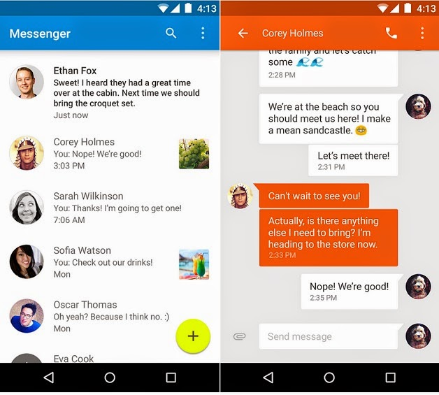 aplikasi sms android 5.0 lollipop