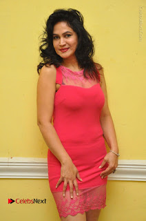 Telugu Actress Vijaya Murthy Stills in Red Short Dress at Www.Meena Bazaar Movie Opening  0002.JPG