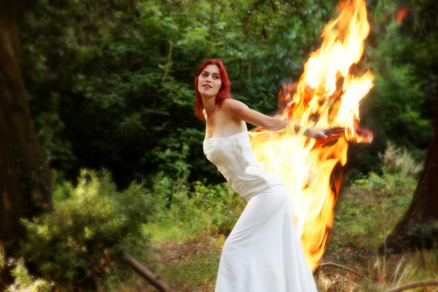 the fire Trash dress on