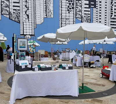 SoCal Etsy Guild - Horton Plaza Park, Sue Allemand, A Joyful Soul booth