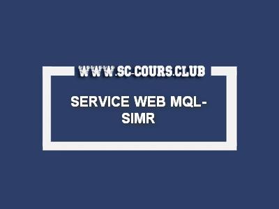 SERVICE WEB MQL-SIMR S1