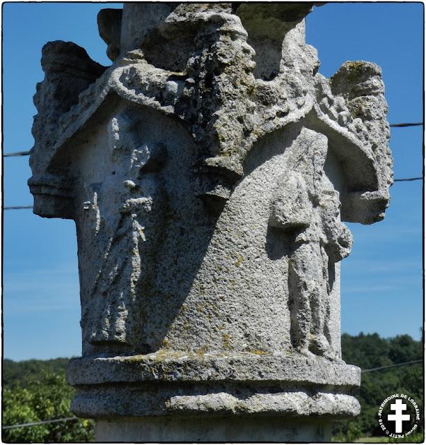 CIRCOURT-SUR-MOUZON (88) - Croix de chemin de Bréchaincourt (XVIe siècle)