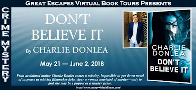 Great Escapes Virtual Book Tours, Bea's Book Nook, Charlie Donlea