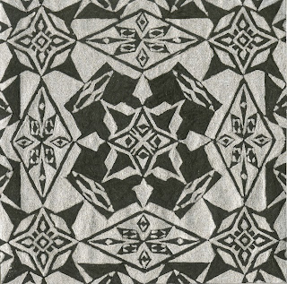 alyssa au artwork black and white pattern geometric shapes