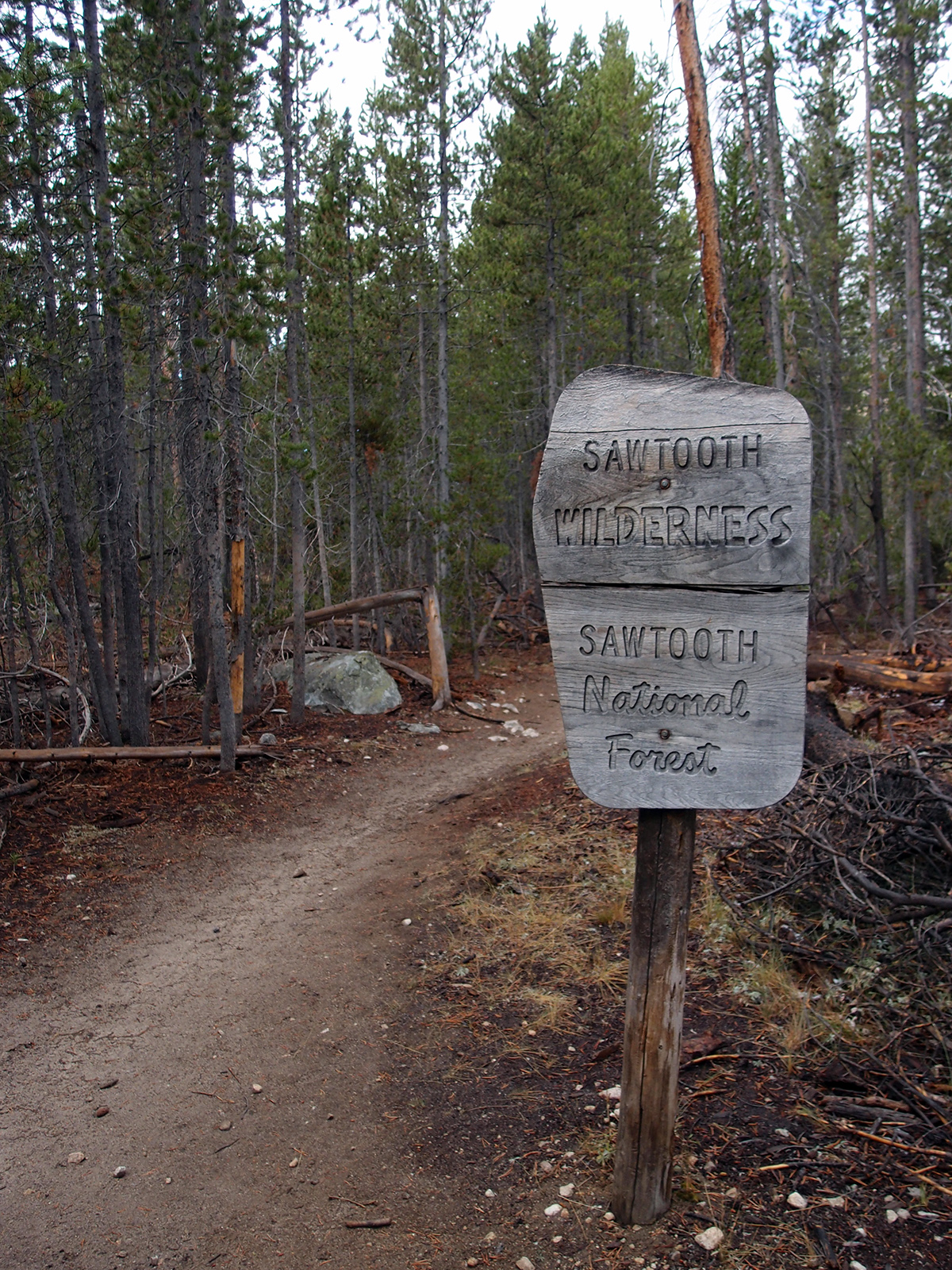 Trailhead map with our route drawn in