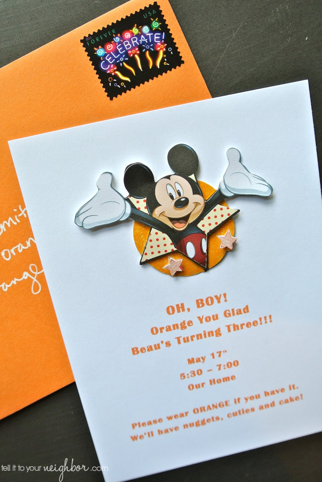 tell it to your neighbor!: Easy Mickey Mouse Invite + Free ...