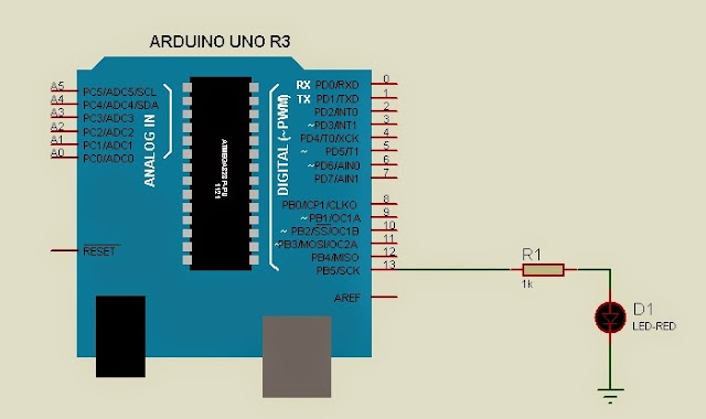 Arduino blink without delay circuit code