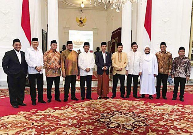 Presiden Jokowi bersama GNPF-MUI