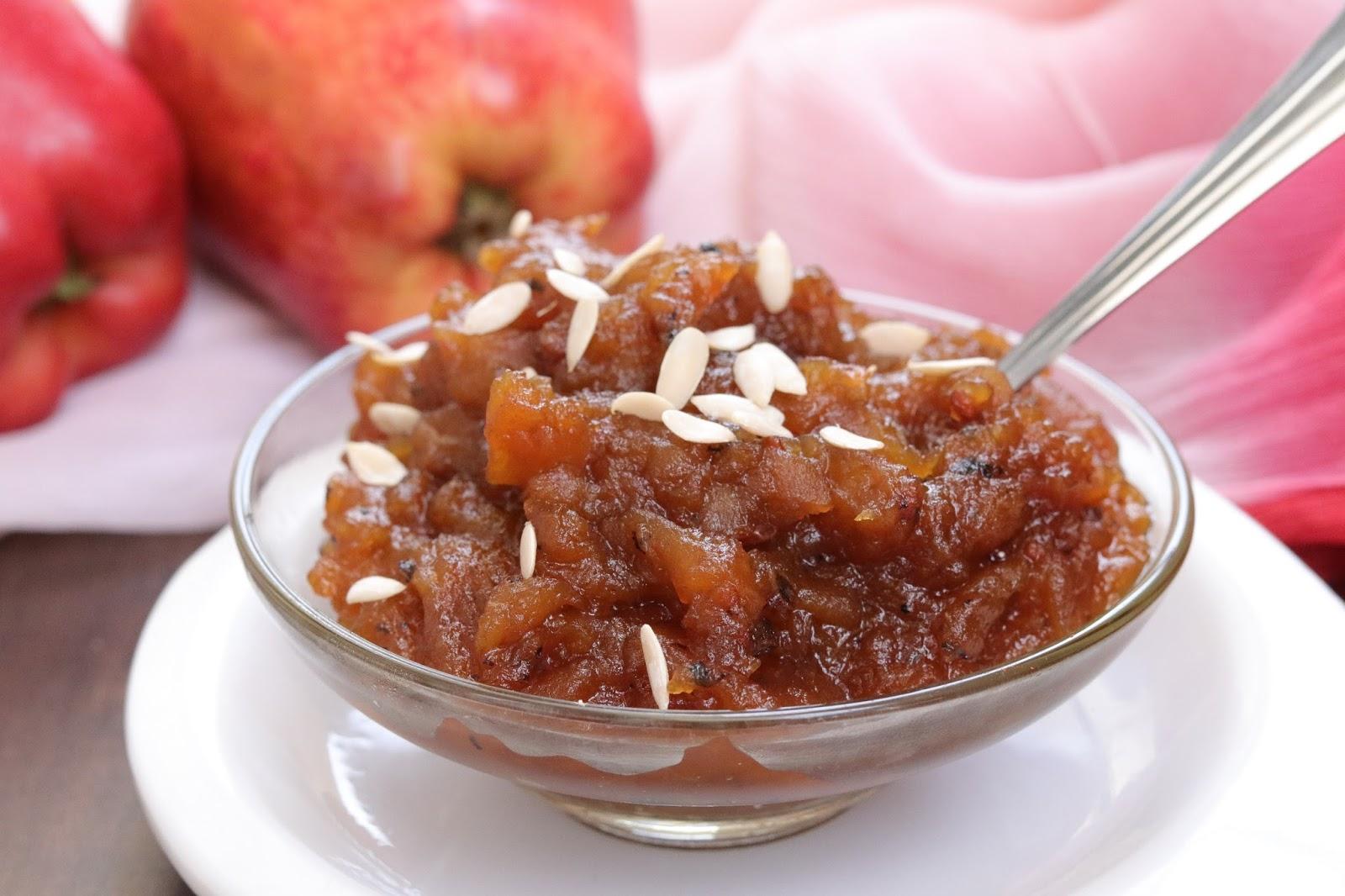 Apple Chutney Recipe | Spiced Apple Chutney ~ Healthy Kadai