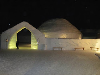 Hotel de Glace In The Night.