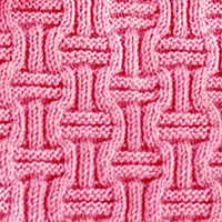 Double Basket Weave stitch. Easy Knitting stitch.. The pattern involves only knit and purl stitches in an easy to memorize pattern.