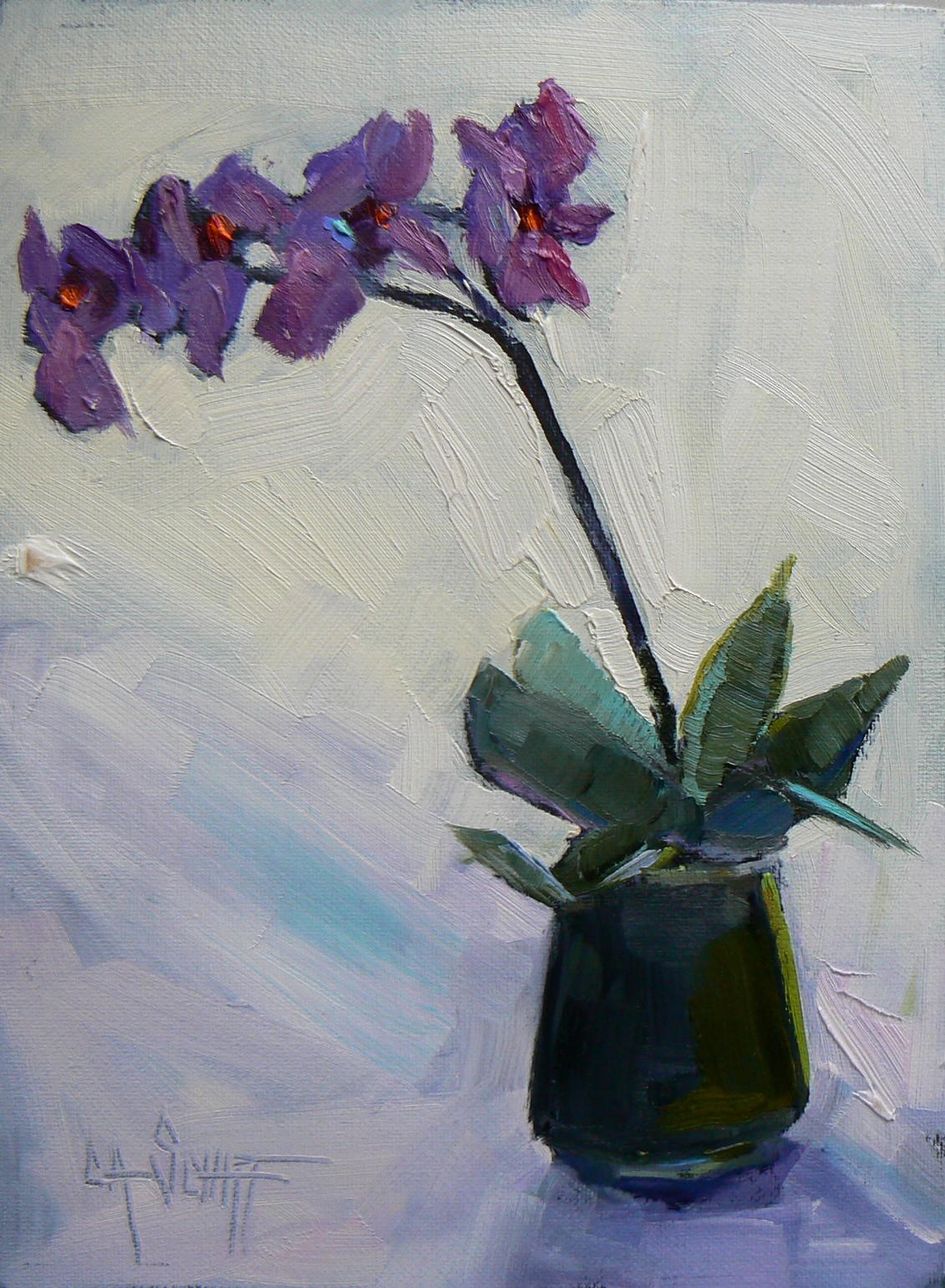 simple orchids paintings - HD1101×1500
