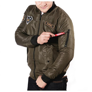 JAKET BOMBER PRIA ZURREL DIAMOND ORIGINAL DARK GREEN