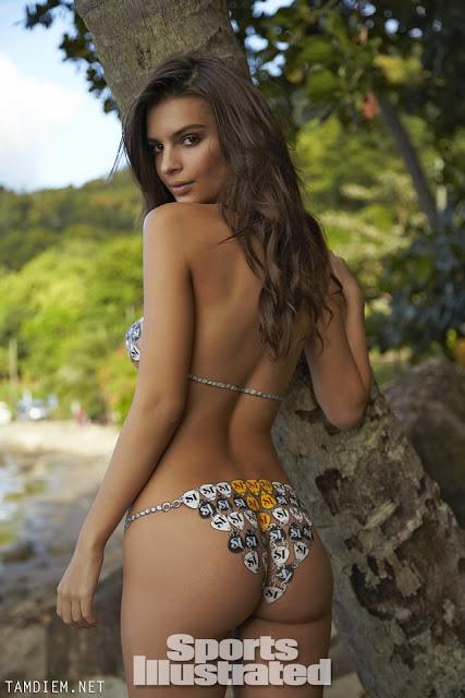 Hot girls Emily Ratajkowski nude sexy body painting 4