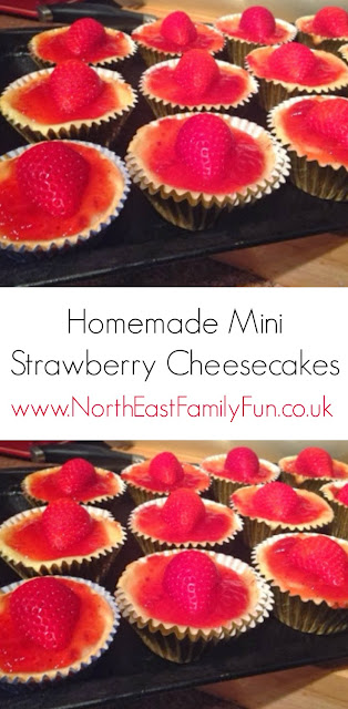 Homemade Mini Strawberry Cheesecakes - Recipe