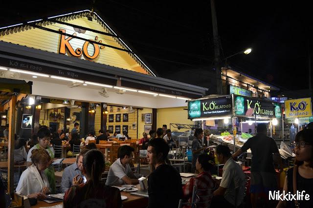 【泰國。華欣】KO Seafood:夜市內超搶眼的海鮮餐廳。 2