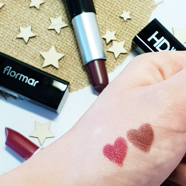 Flormar lipsticks swatch