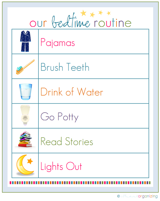 Daily Potty Training Chart