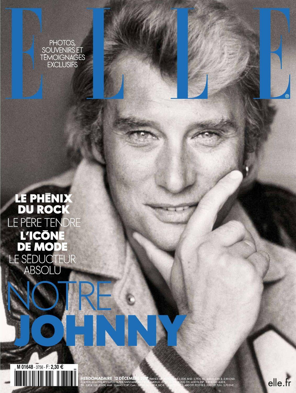 ELLE Francia dedica una portada póstuma a Johnny Halladay en su número de diciembre