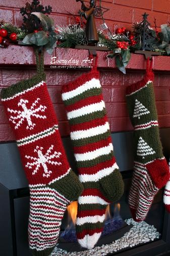 Everyday Art Knit Christmas Stocking Pattern