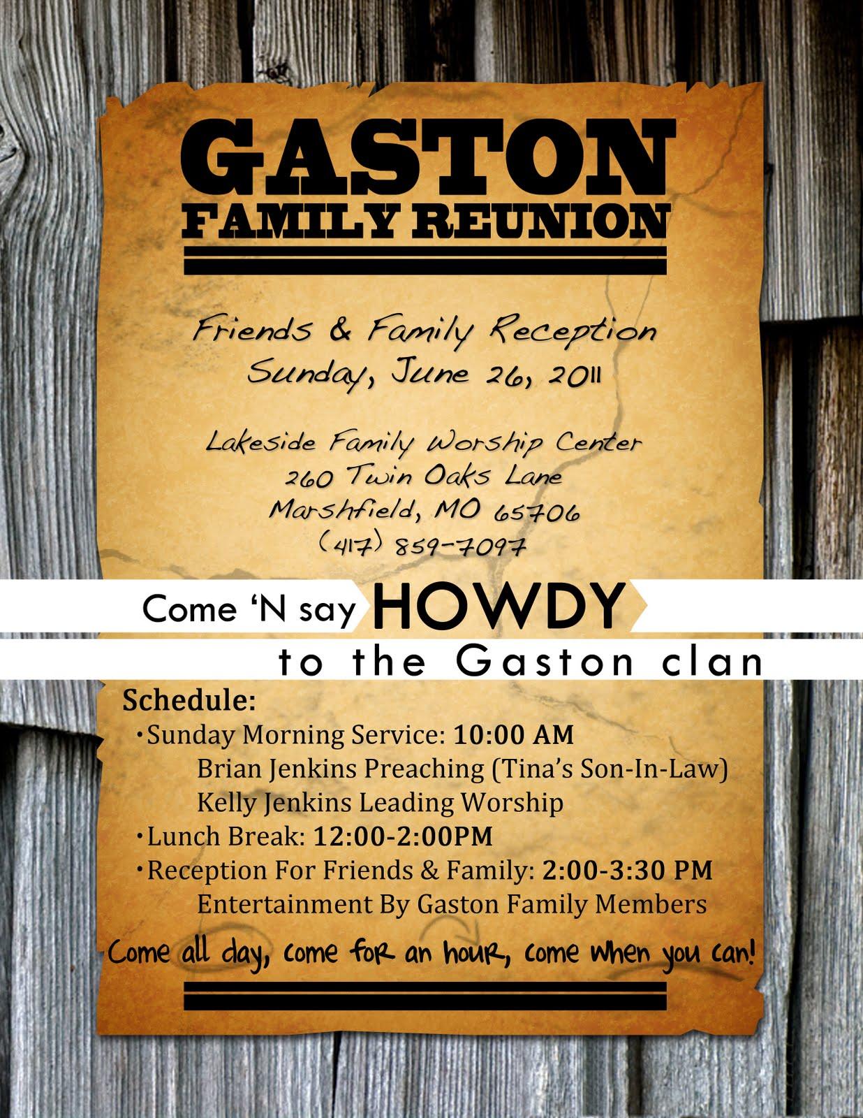 Tinman Designs: family reunion flyer