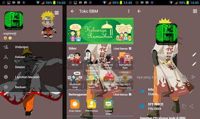 BBM Mod Theme Naruto Senki v2.13.1.14 Apk